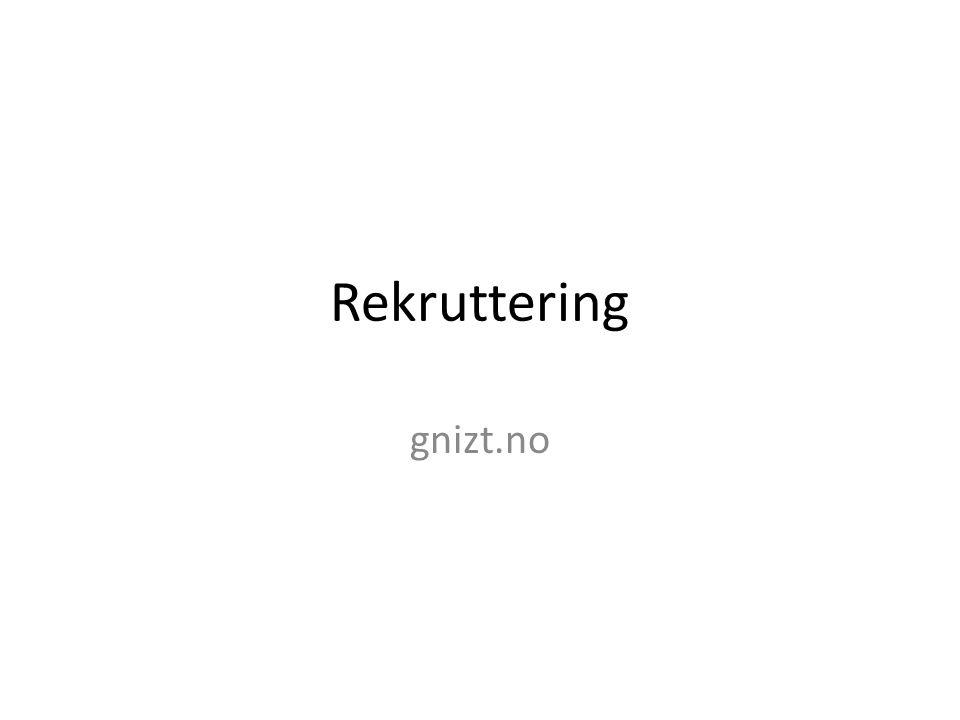Rekruttering gnizt.no