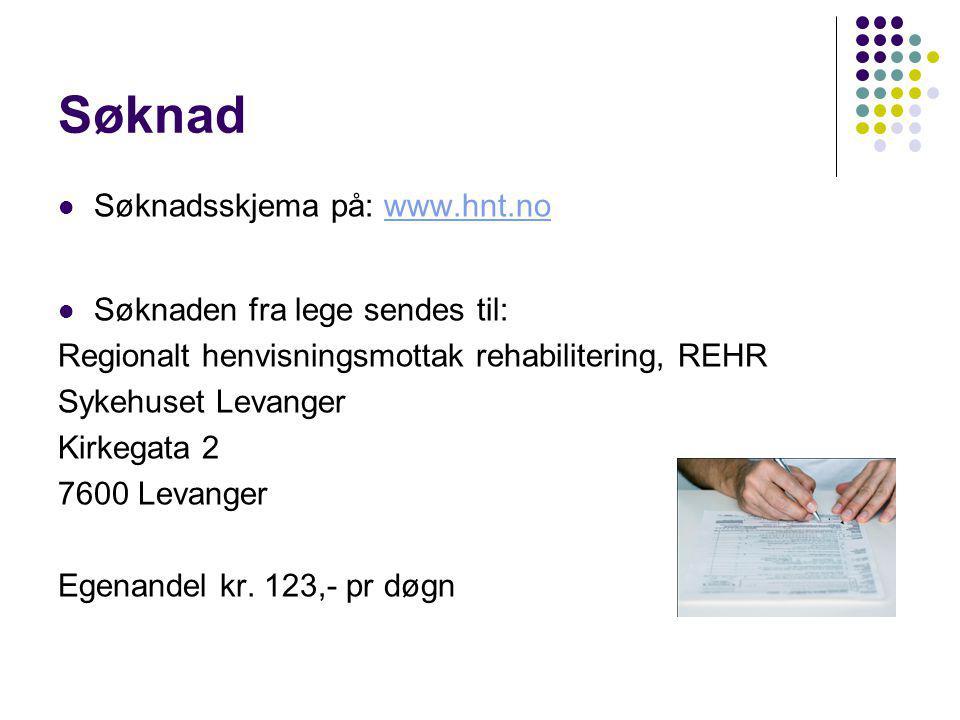 Søknad Søknadsskjema på: www.hnt.no Søknaden fra lege sendes til:
