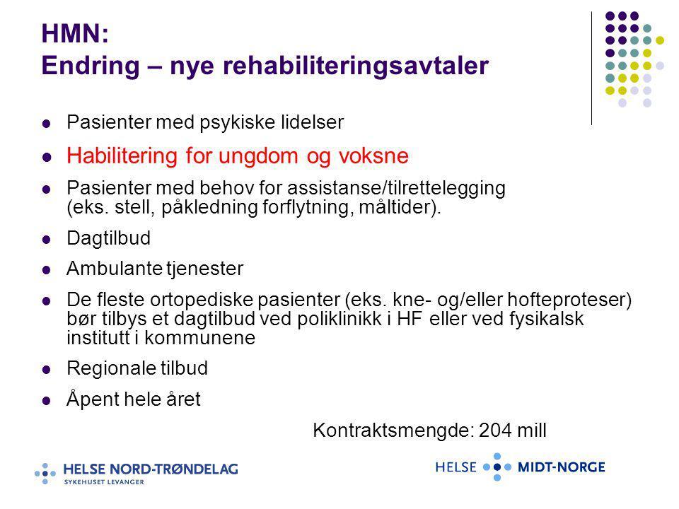 HMN: Endring – nye rehabiliteringsavtaler