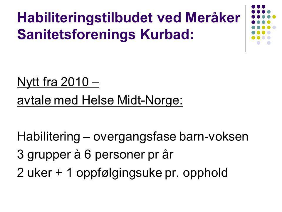 Habiliteringstilbudet ved Meråker Sanitetsforenings Kurbad: