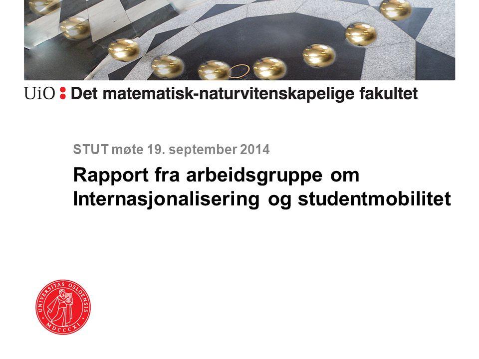 Rapport fra arbeidsgruppe om Internasjonalisering og studentmobilitet
