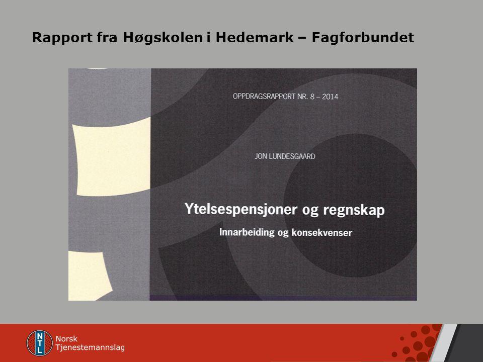 Rapport fra Høgskolen i Hedemark – Fagforbundet