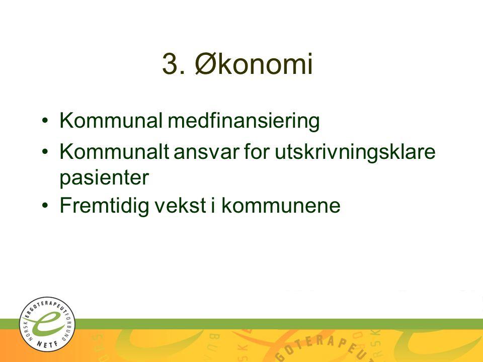 3. Økonomi Kommunal medfinansiering