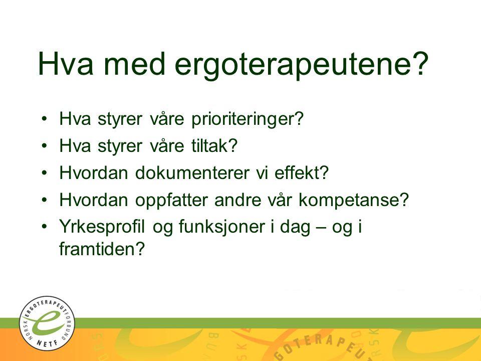 Hva med ergoterapeutene