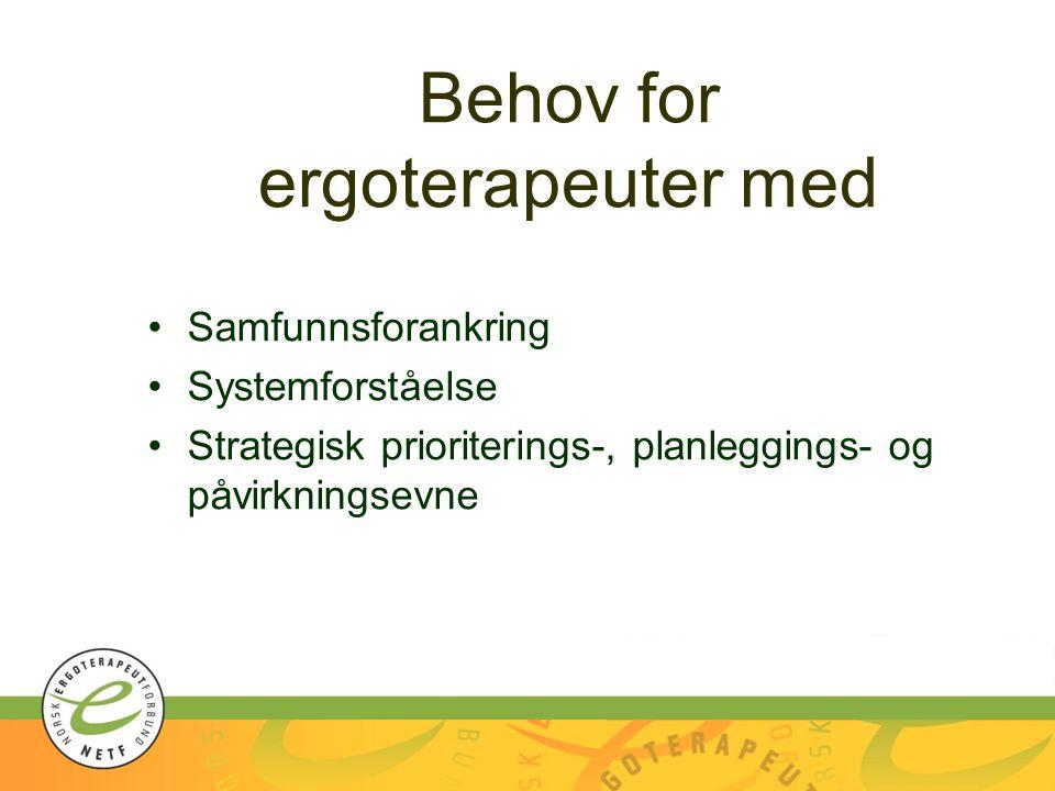 Behov for ergoterapeuter med