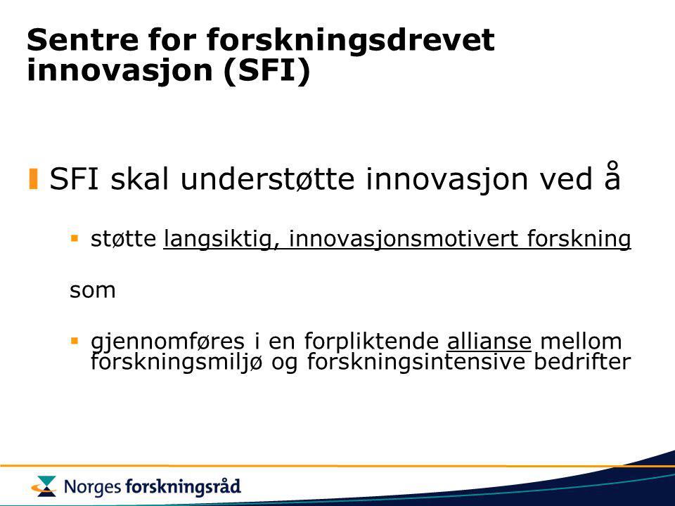 Sentre for forskningsdrevet innovasjon (SFI)