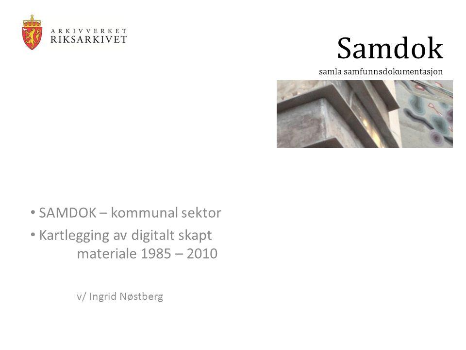 Samdok SAMDOK – kommunal sektor