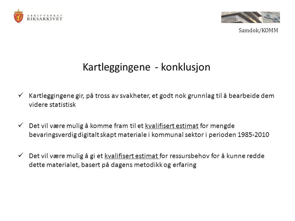 Kartleggingene - konklusjon