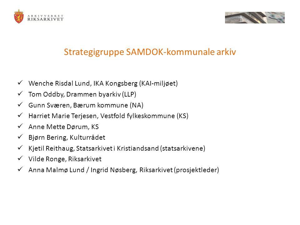 Strategigruppe SAMDOK-kommunale arkiv