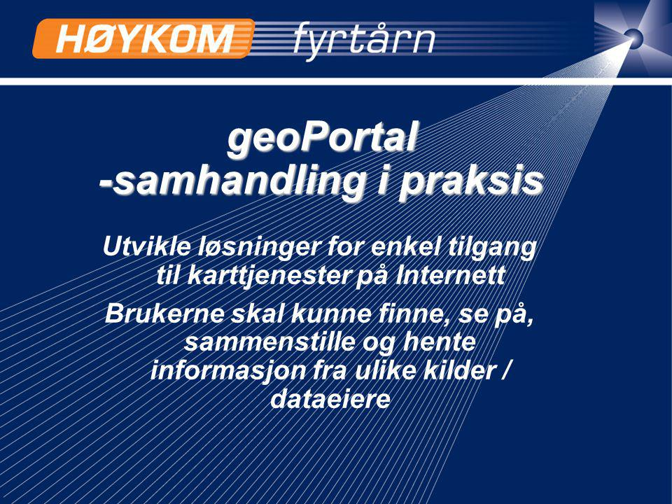 geoPortal -samhandling i praksis