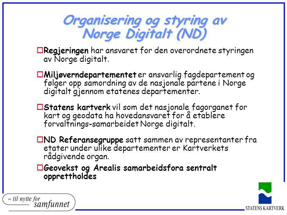 Organisering og styring av Norge Digitalt (ND)