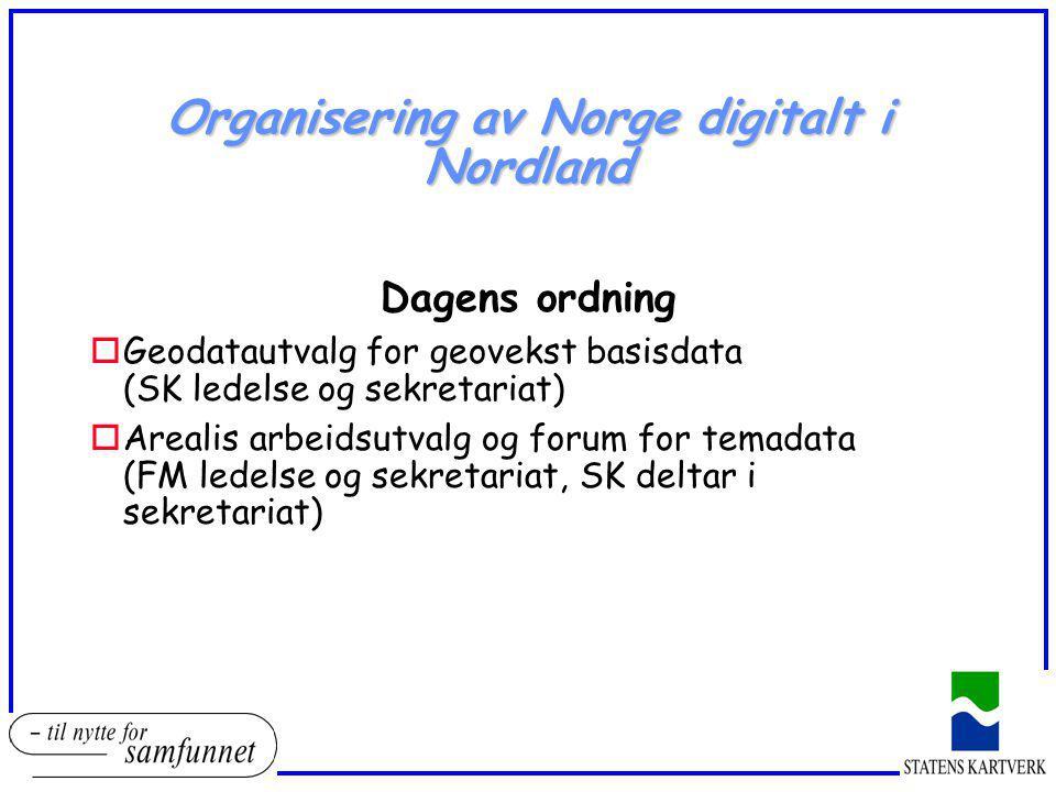 Organisering av Norge digitalt i Nordland
