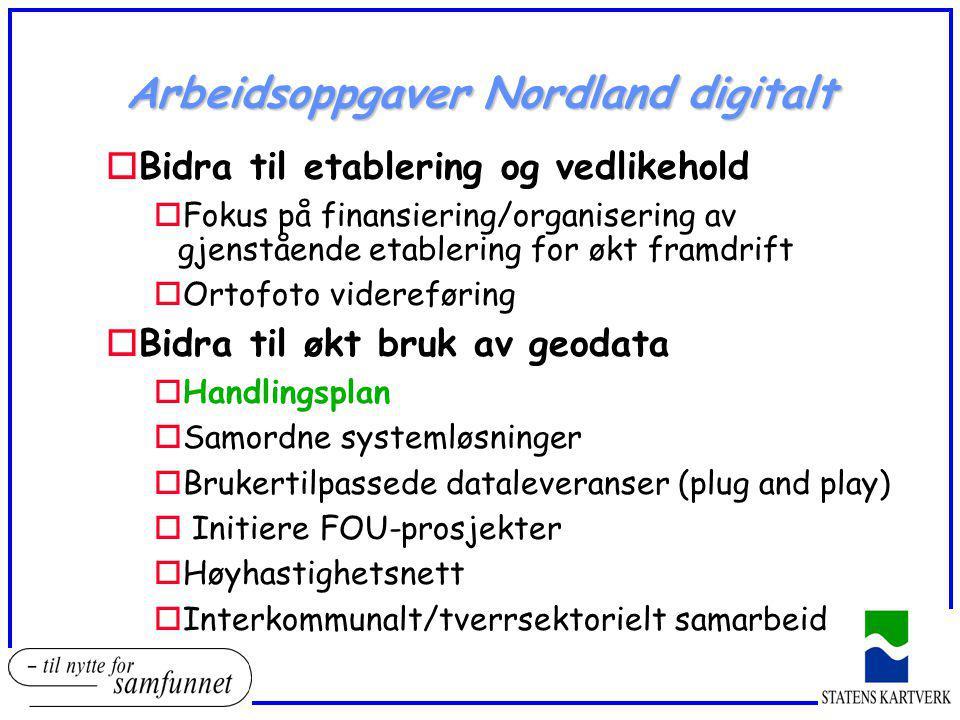 Arbeidsoppgaver Nordland digitalt