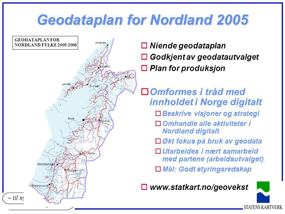 Geodataplan for Nordland 2005