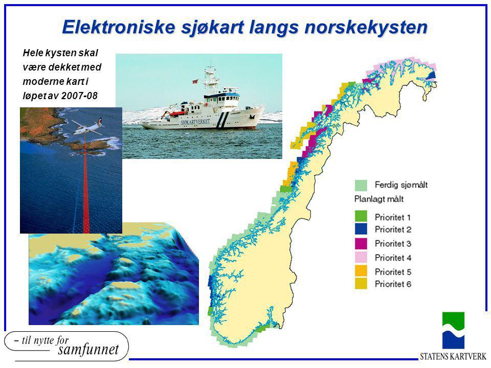 Elektroniske sjøkart langs norskekysten