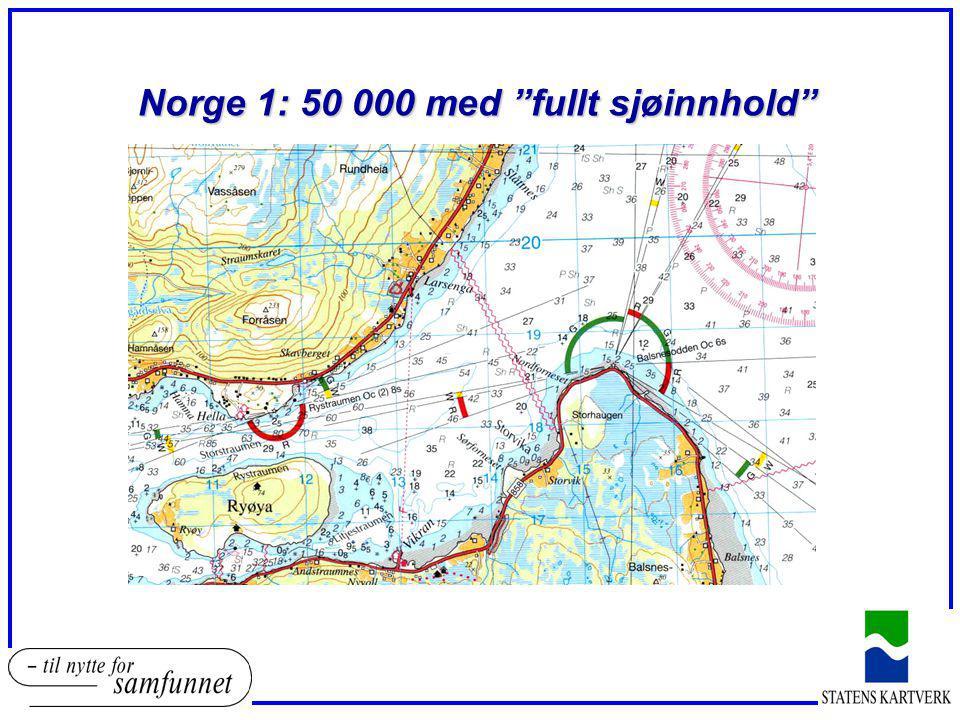 Norge 1: 50 000 med fullt sjøinnhold