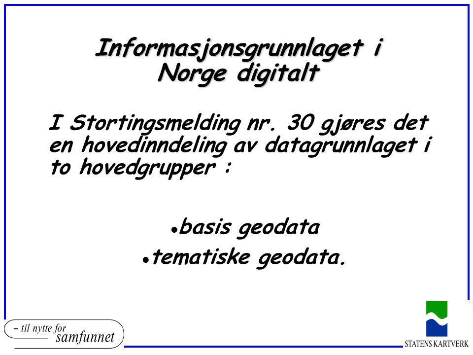 Informasjonsgrunnlaget i Norge digitalt