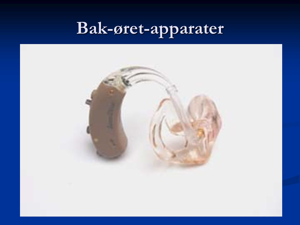 Bak-øret-apparater