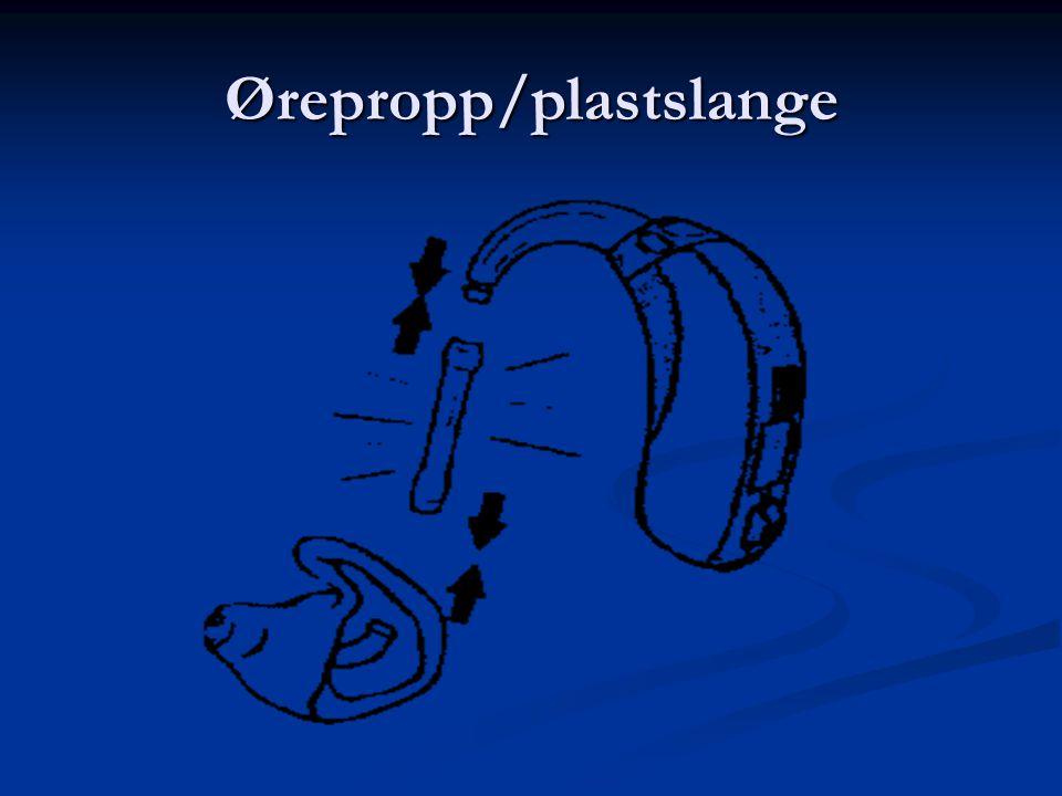 Ørepropp/plastslange