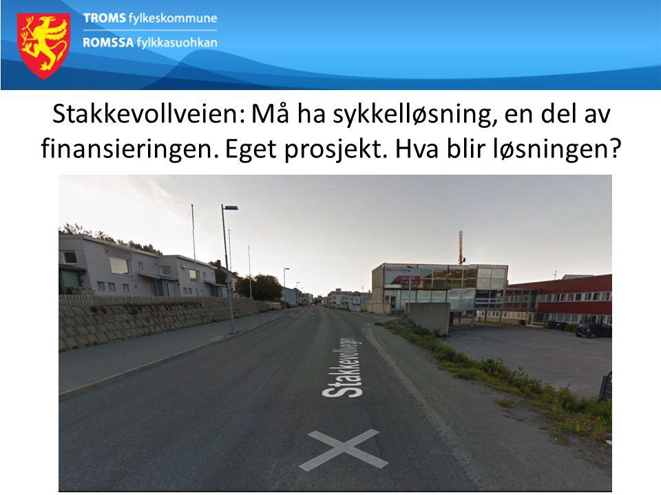 Stakkevollveien: Må ha sykkelløsning, en del av finansieringen