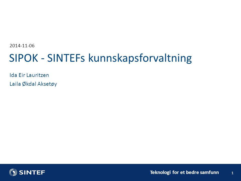 SIPOK - SINTEFs kunnskapsforvaltning
