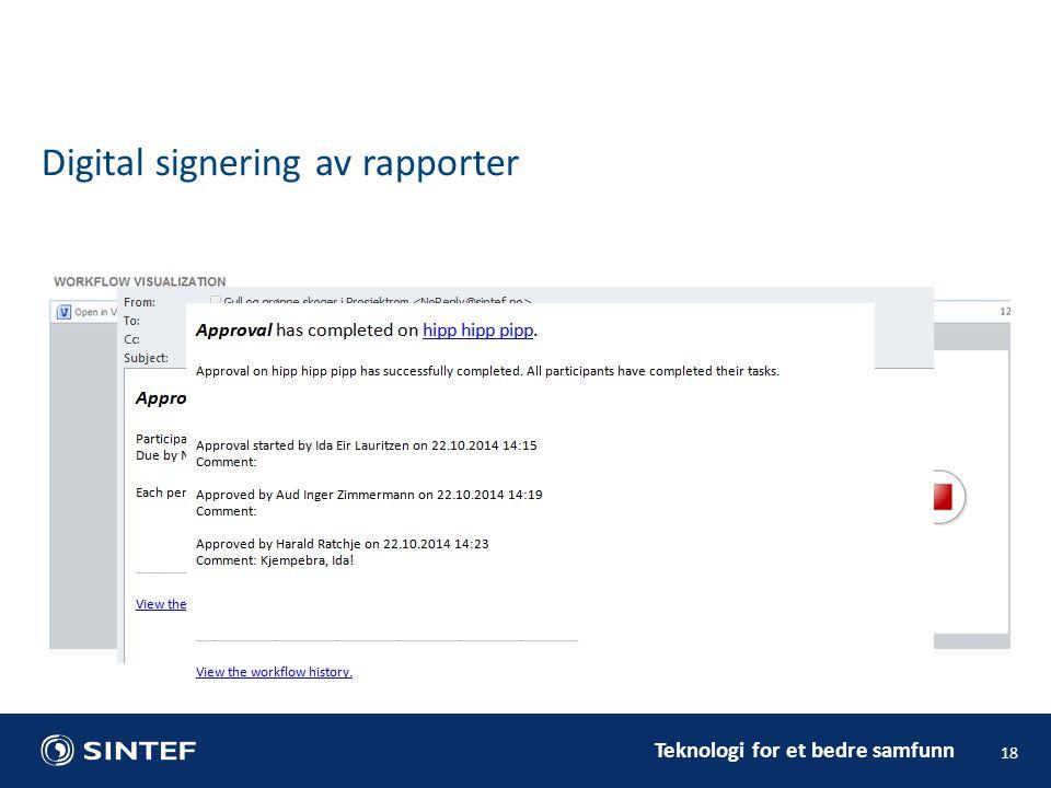 Digital signering av rapporter