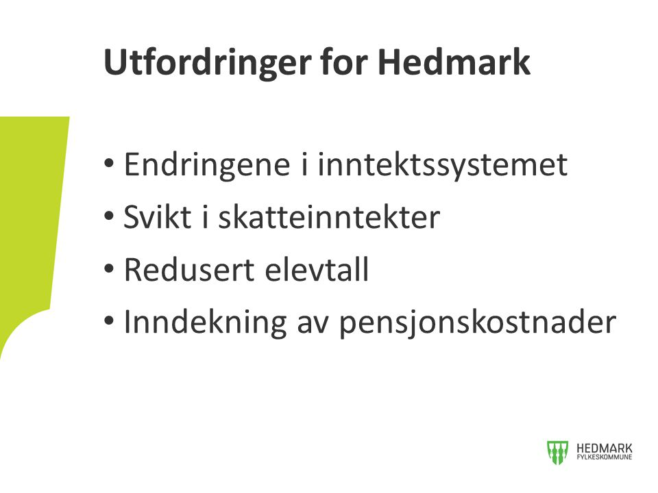 Utfordringer for Hedmark