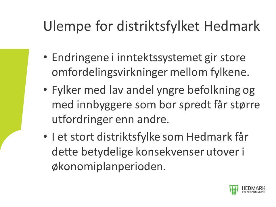 Ulempe for distriktsfylket Hedmark