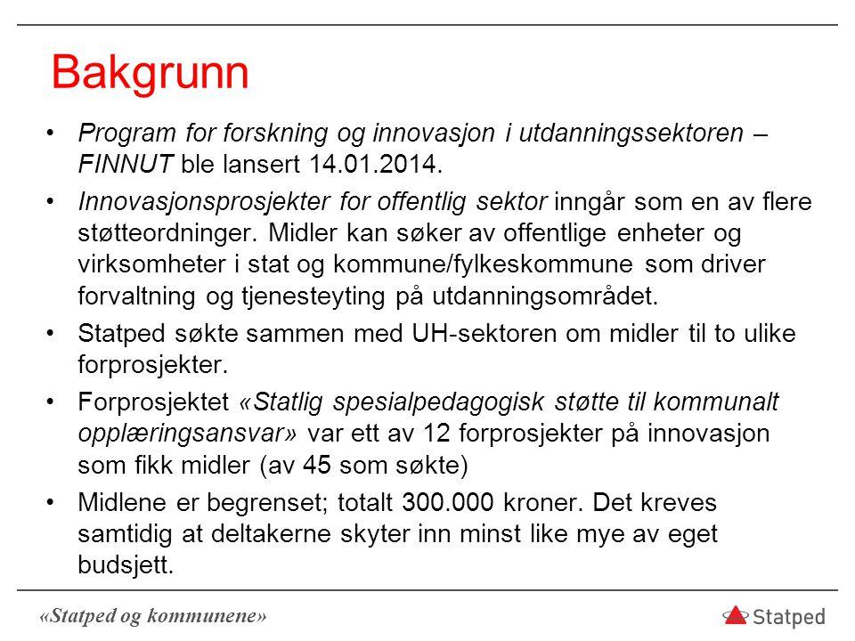 07.04.2017 Bakgrunn. Program for forskning og innovasjon i utdanningssektoren – FINNUT ble lansert 14.01.2014.