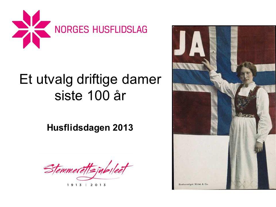 Et utvalg driftige damer siste 100 år Husflidsdagen 2013