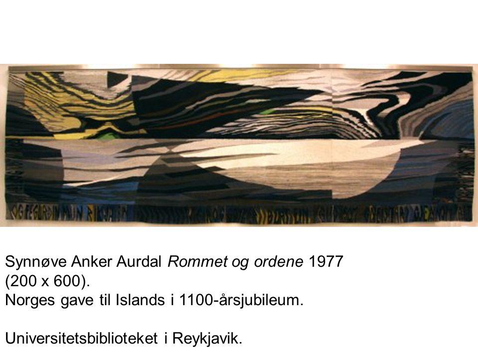 Synnøve Anker Aurdal Rommet og ordene 1977