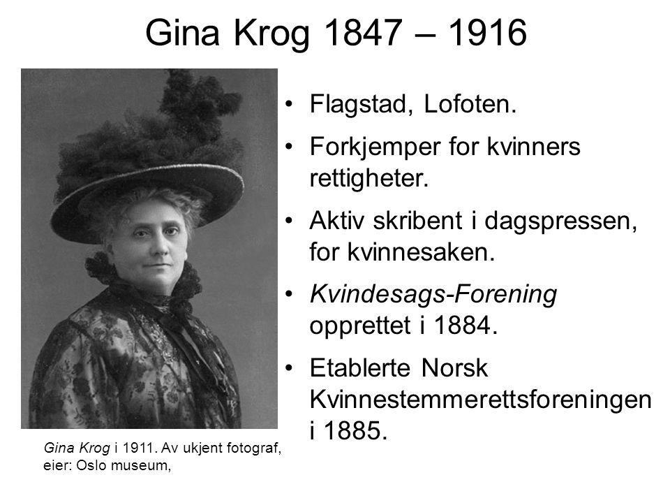 Gina Krog 1847 – 1916 Flagstad, Lofoten.