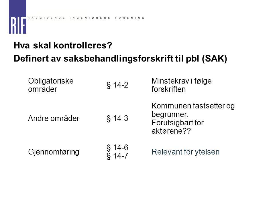 Definert av saksbehandlingsforskrift til pbl (SAK)