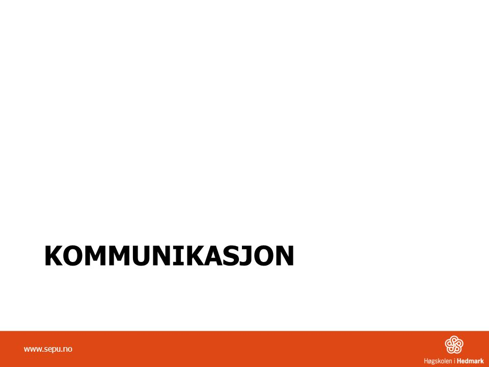Kommunikasjon www.sepu.no
