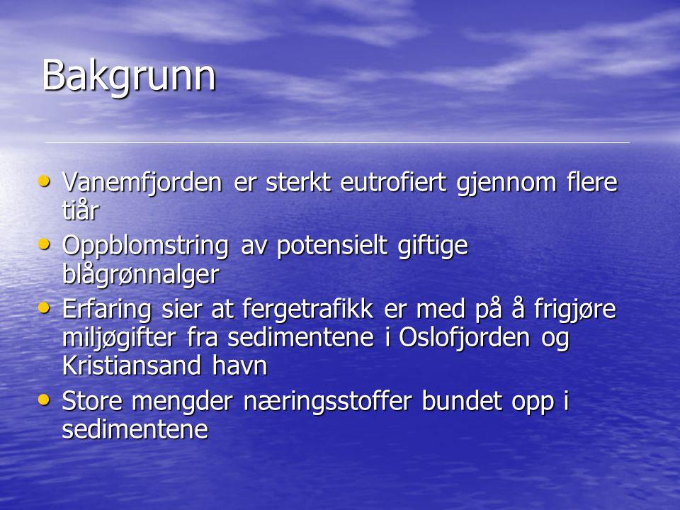 Bakgrunn Vanemfjorden er sterkt eutrofiert gjennom flere tiår