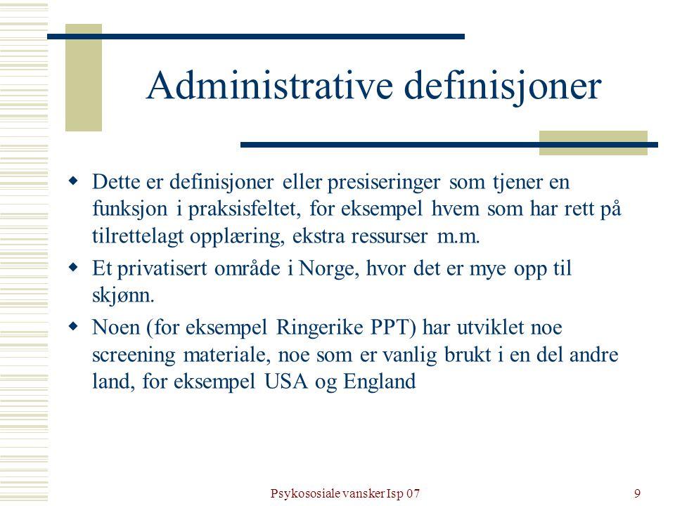 Administrative definisjoner