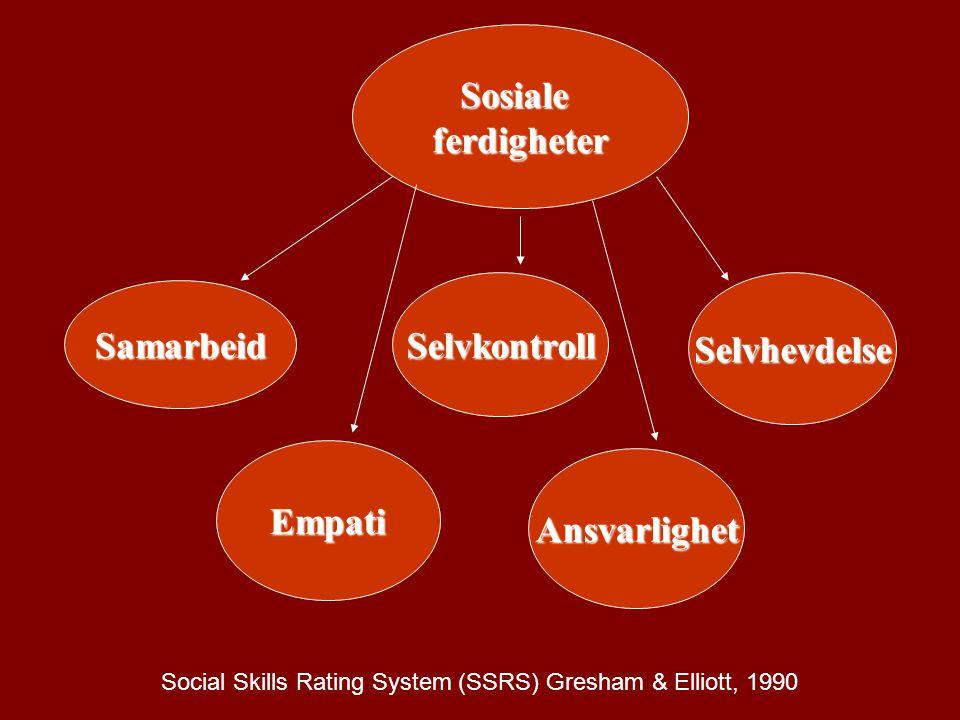Social Skills Rating System (SSRS) Gresham & Elliott, 1990