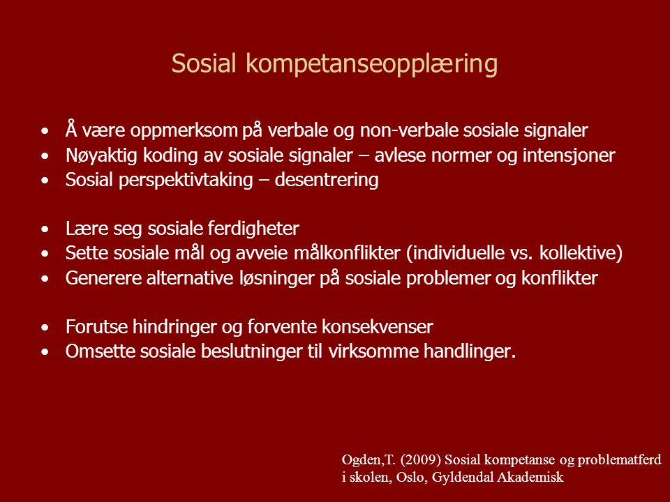Sosial kompetanseopplæring