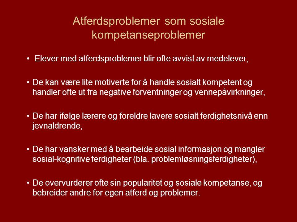 Atferdsproblemer som sosiale kompetanseproblemer