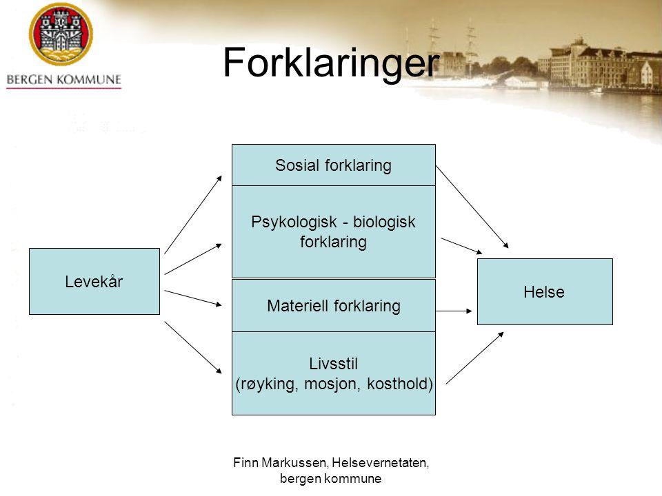 Forklaringer Sosial forklaring Psykologisk - biologisk forklaring