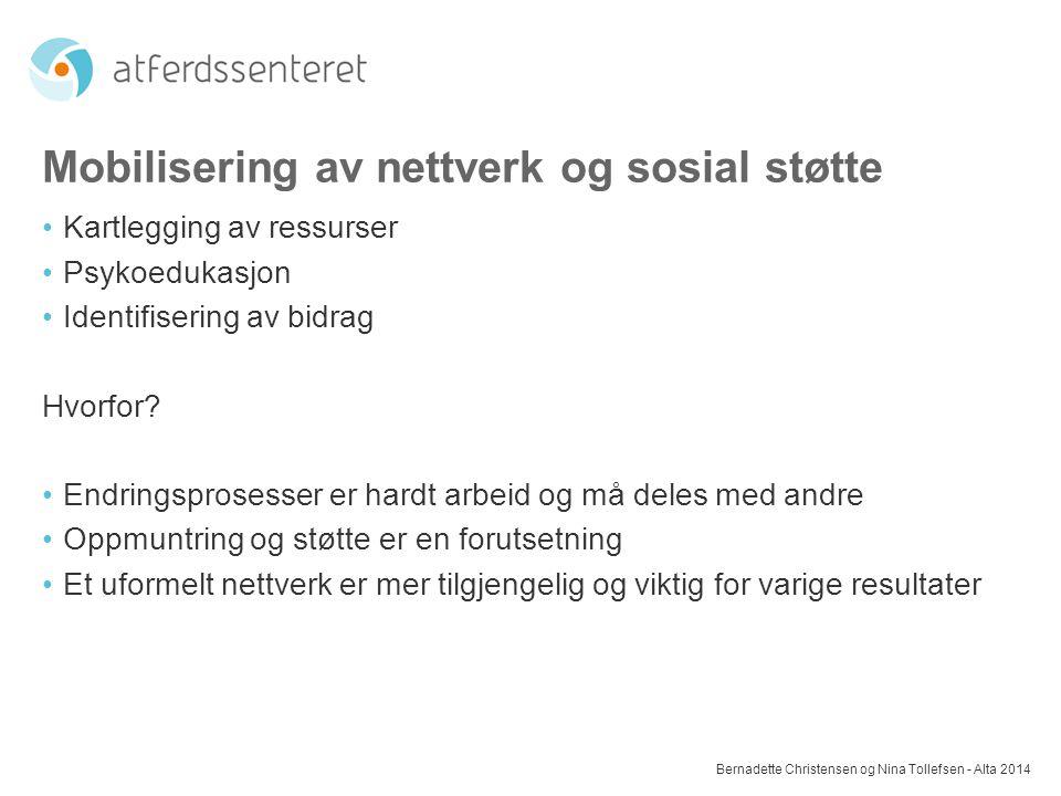 Mobilisering av nettverk og sosial støtte