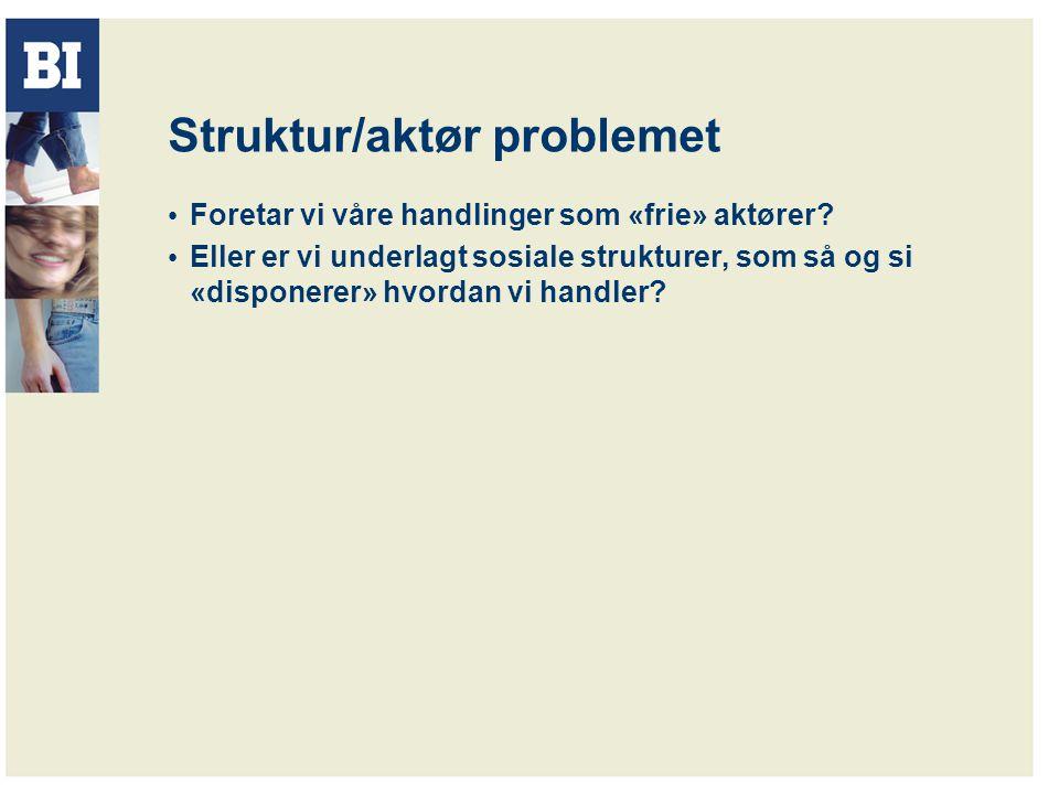 Struktur/aktør problemet