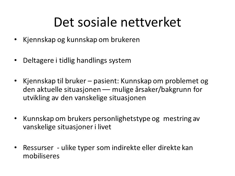 Det sosiale nettverket