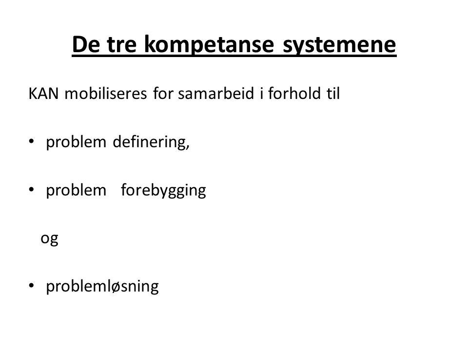 De tre kompetanse systemene