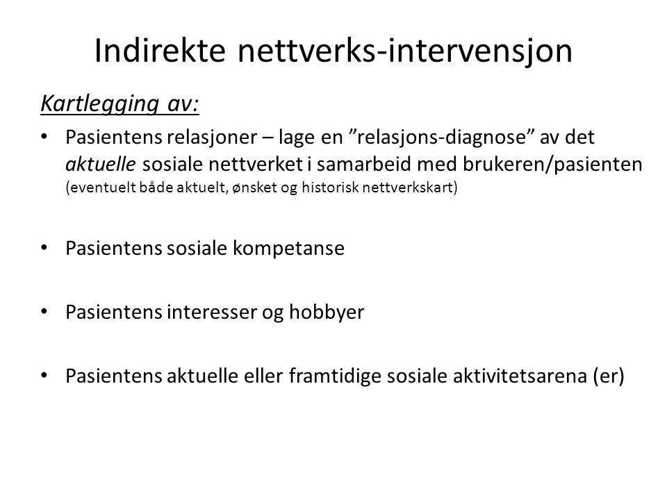 Indirekte nettverks-intervensjon