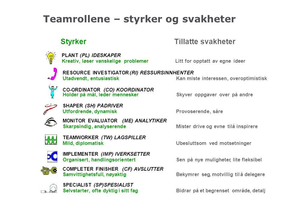 Teamrollene – styrker og svakheter