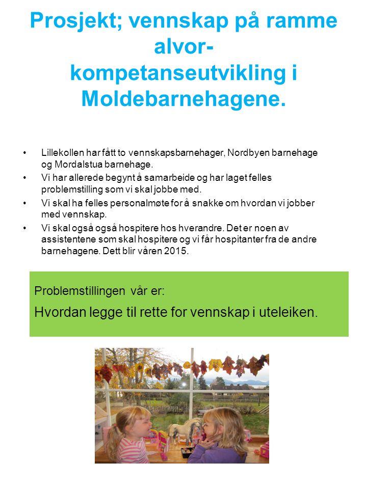 Prosjekt; vennskap på ramme alvor- kompetanseutvikling i Moldebarnehagene.