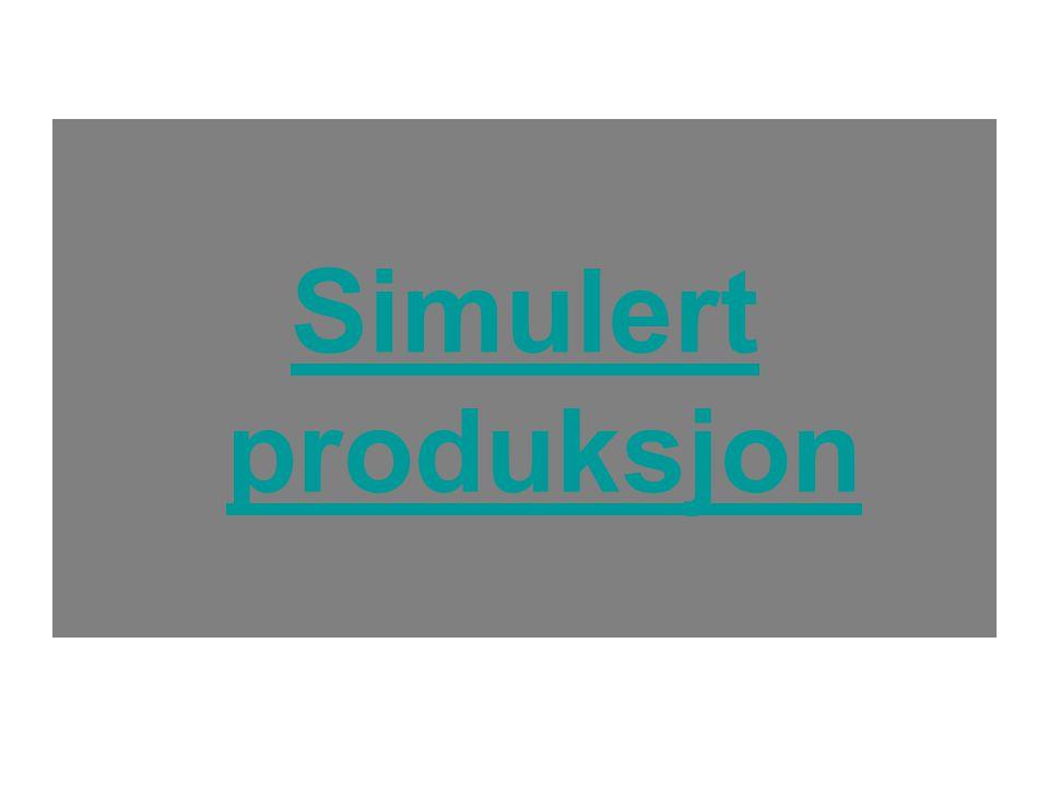 Simulert produksjon