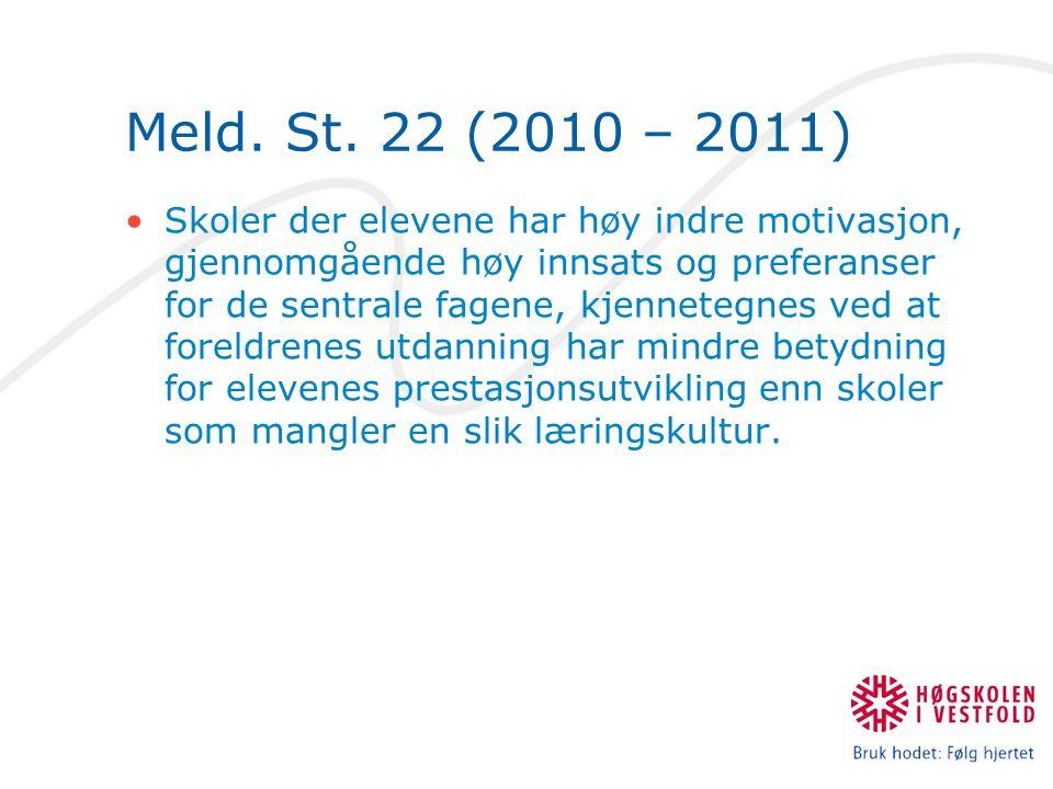 Meld. St. 22 (2010 – 2011)