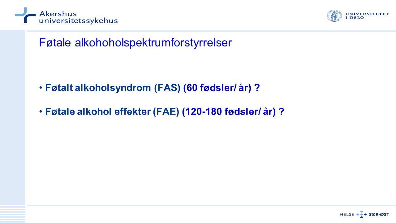 Føtale alkohoholspektrumforstyrrelser